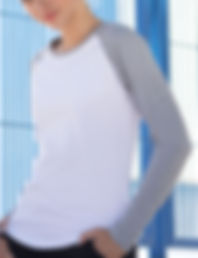 Women's long sleeved baseball t-shirt