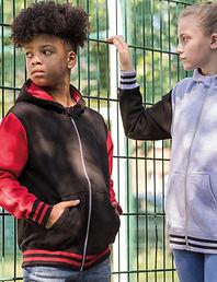 Children's urban zipped hoodie