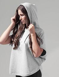 Sleeveless loose hoodie
