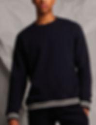 Striped rib cuffs sweatshirt