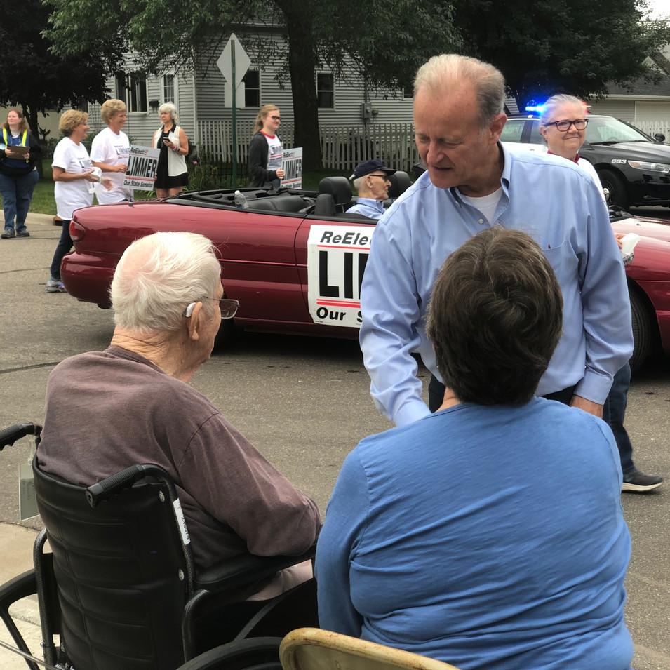 Our Seniors are treasures that deserve protection. Senator Limmer promoted landmark elder care safeguards.
