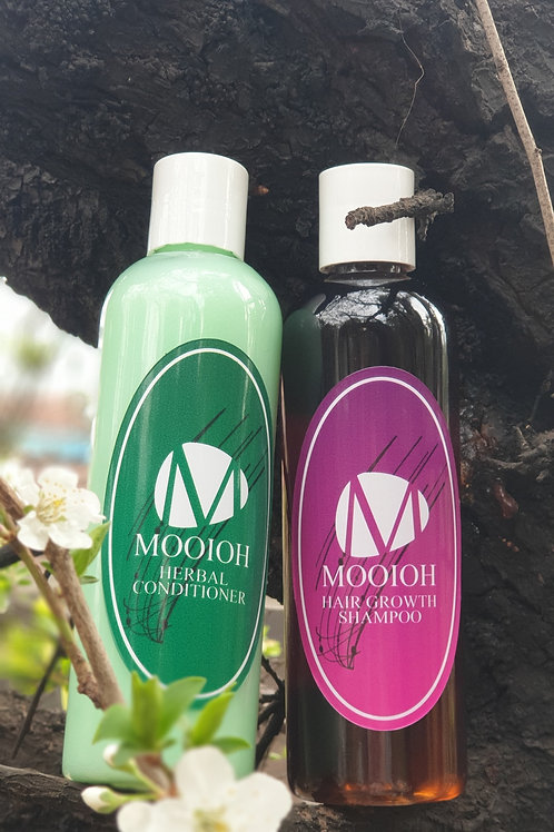 *Mooioh Hair Growth Shampoo & Herbal Conditioner Combo