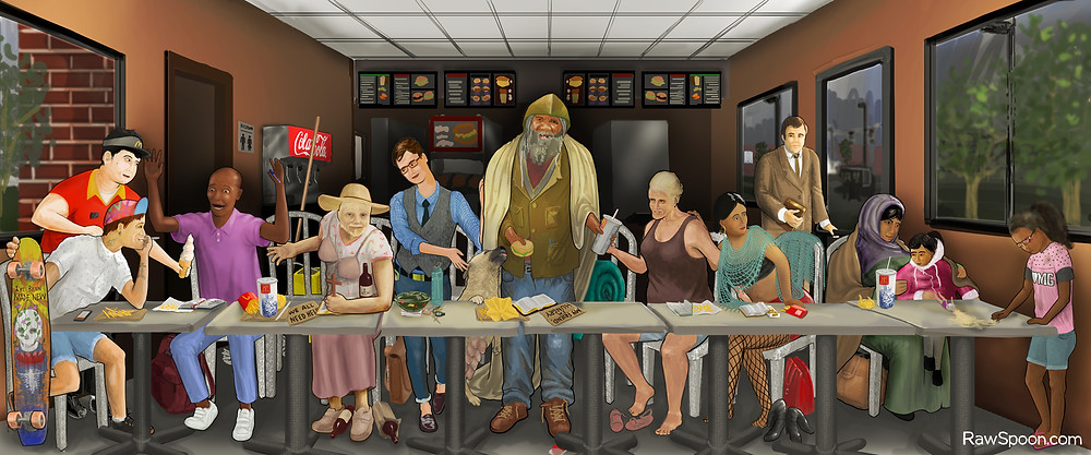 Modern Last Supper done in photoshop
