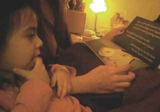 Reading time with kids