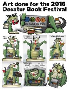 Decatur Book Festival illustrations