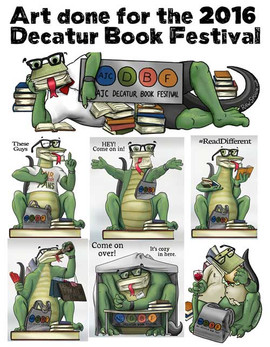 Decatur Book Festival illustrations