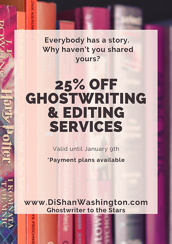25 off Ghostwriting  Editing services.PN