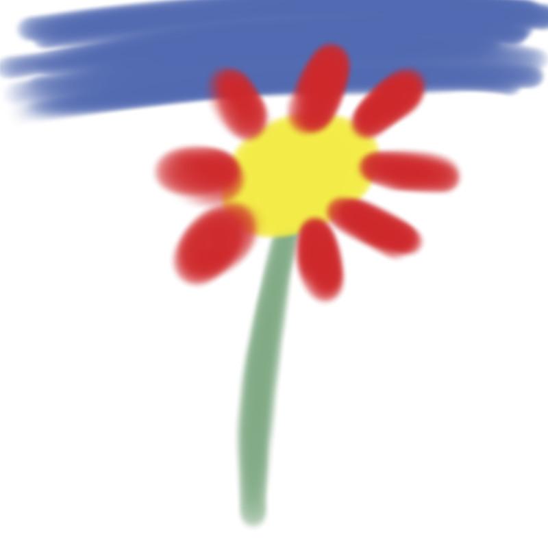 Blume, die Freddi gemalt hat