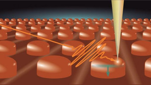 Nanodots made of photovoltaic material support waveguide modes