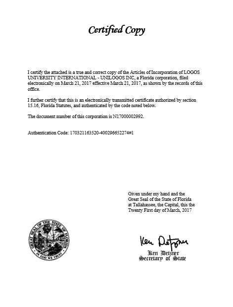 Copy Certificate Unilogos