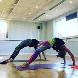 We love to practice _hotzenyoga #yogafit #funkyflow #yogaeverydamnday #hotyoga #hotzen
