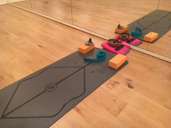 mat with blocks