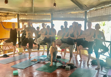 yoga retreat team picture