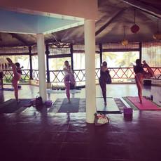 dancer pose retreat