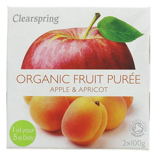Clearspring Organic Apple & Apricot Fruit Puree (2 x 100g)