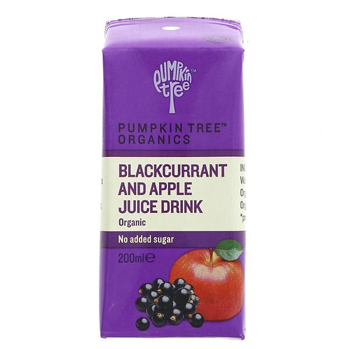 Pumpkin Tree Organics Blackcurrant & Apple Juice 200ml