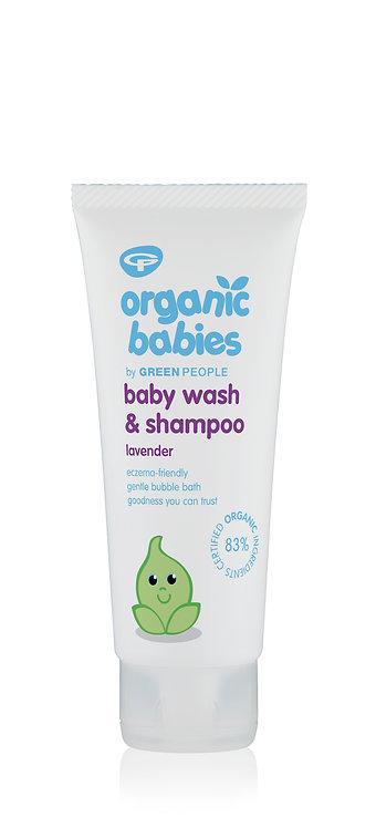 Organic Babies By Green People Baby Wash & Shampoo Lavender 150ml