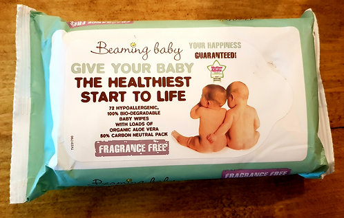 Beaming Baby Fragrance Free Baby Wipes 72pcs