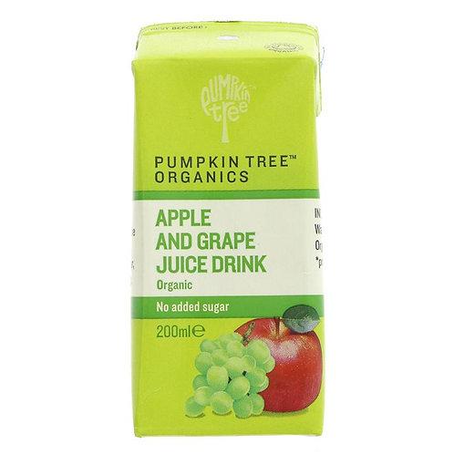 Pumpkin Tree Organics Apple & Grape Juice 200ml
