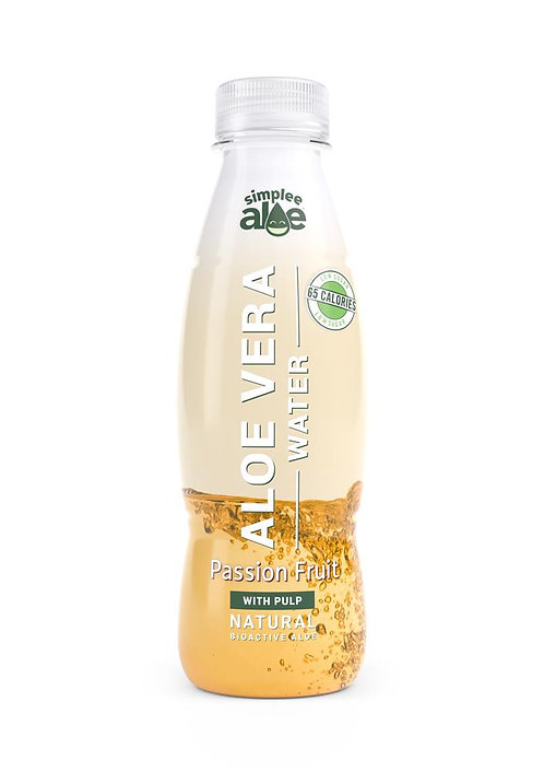 Simplee Aloe Aloe Water With Pulp Passion Fruit Flavour 500ml