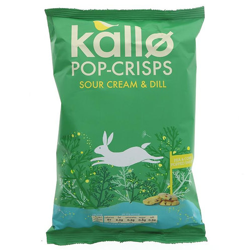 Kallo Sour Cream & Dill Pop Chips 85g