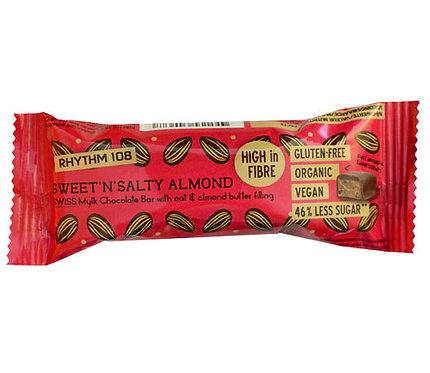 Rhythm 108 Sweet'n'Salty Almond Chocolate Bar 33g