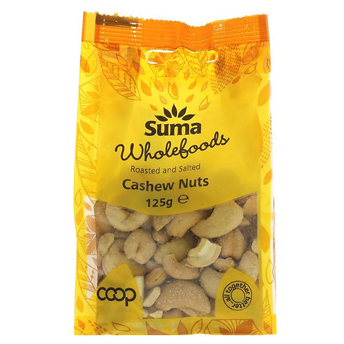 Suma Roasted & Salted Cashew Nuts 125g