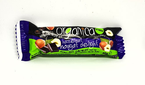 Organica Hazelnut Nougat Delight Bar 40g