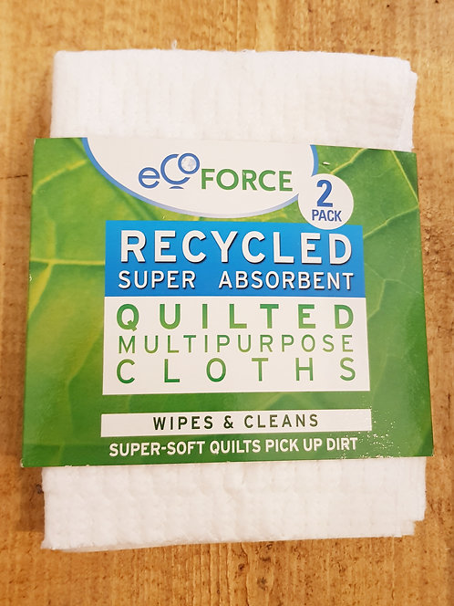 Ecoforce Recycled Multipurpose Cloths 2pck