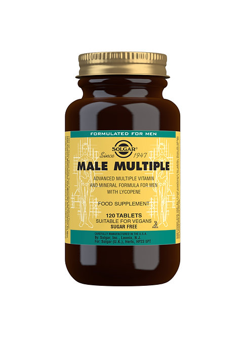 Solgar Male Multiple Advanced Multivitamin (120 Tablets)