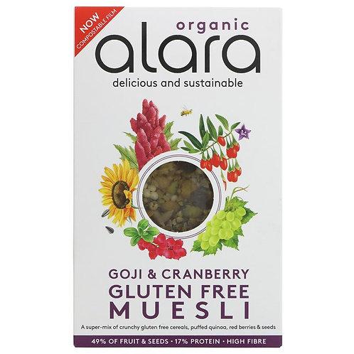 Alara Organic Muesli Goji Berries & Cranberries 650g