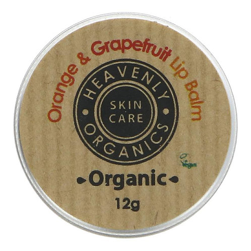 Heavenly Organics Orange & Grapefruit Lip Balm 12g