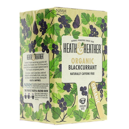 Heath & Heather Organic Blackcurrant Tea 20 Bags