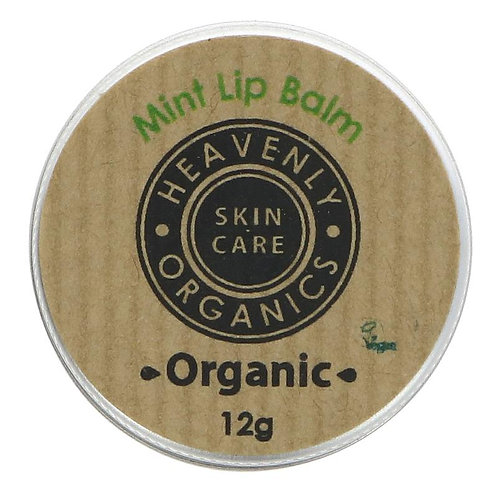 Heavenly Organics Mint Lip Balm 12g