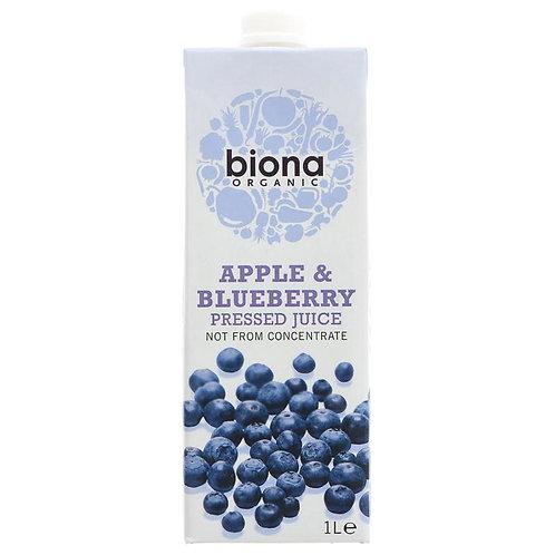 Biona Apple & Blueberry Pressed Juice 1lt