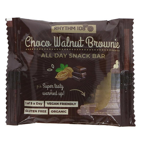 Rhythm 108 Choco Walnut Brownie Bar 40g