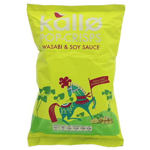 Kallo Wasabi & Soy Sauce Pop Crisps 85g