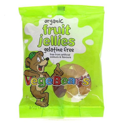Vegebears Organic Fruit Jellies 100g