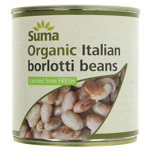 Suma Organic Italian Borlotti Beans 400g
