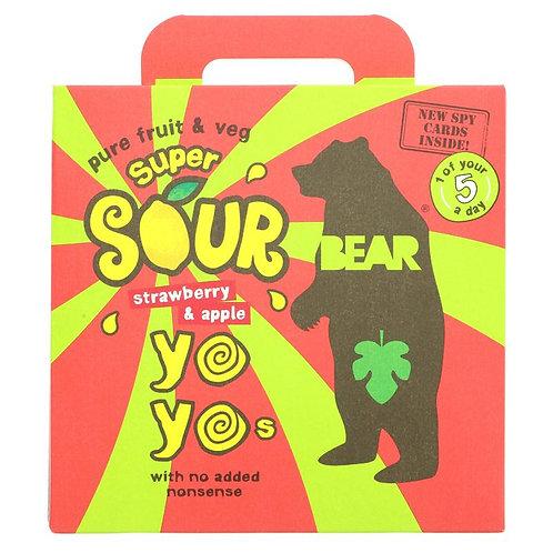 Super Sour Bear Yo Yo's Strawberry & Apple (5 pack)
