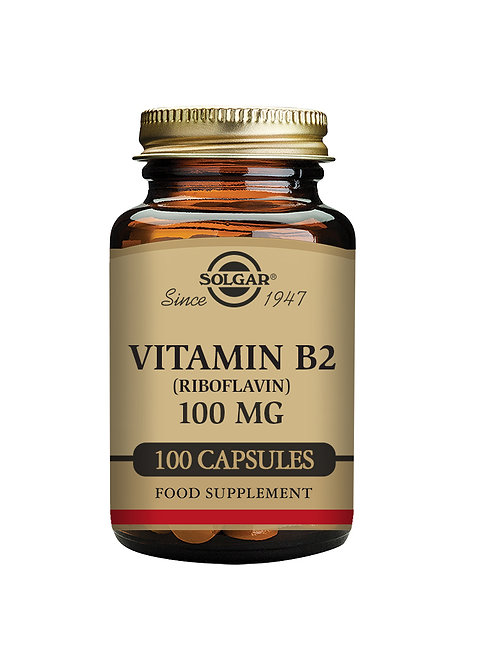 Solgar Vitamin B2 100mg (Riboflavin)