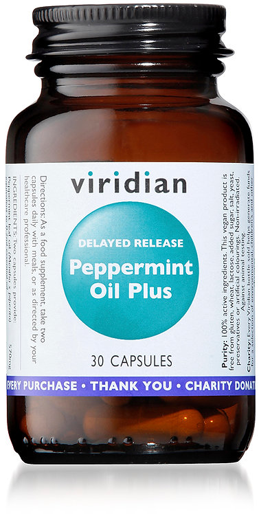 Viridian Delayed Release Pepermint Oil Plus 30 Capsules