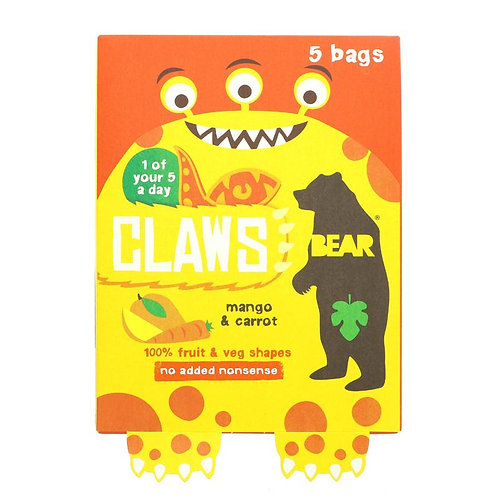 Bear Claws Mango & Carrot Fruit & Veg Shapes (5 bags)