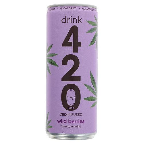 Drink 420 CBD Infused Wild Berries 250ml