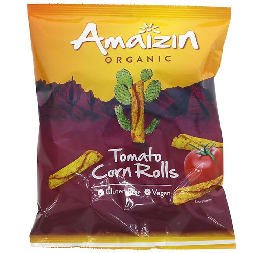 Amaizin Organic Tomato Corn Rolls 100g
