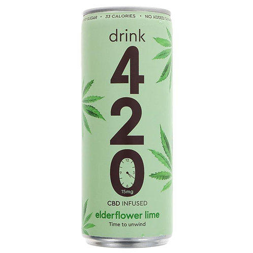 Drink 420 CBD Elderflower Lime 250ml