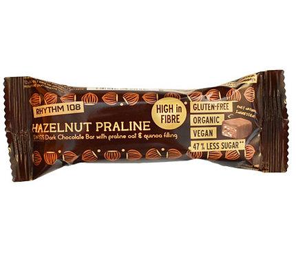 Rhythm 108 Hazelnut Praline Dark Chocolate Bar 33g
