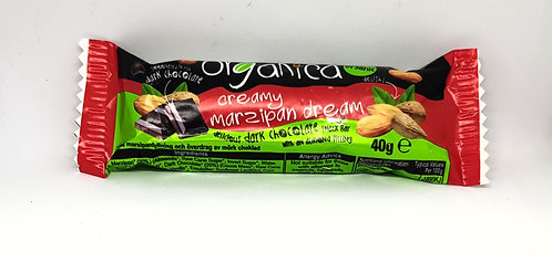 Organica Creamy Marzipan Dream Chocolate Bar 40g