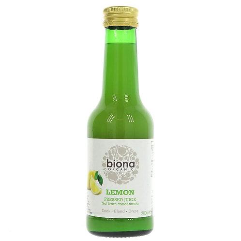 Biona Lemon Pressed Juice 200ml