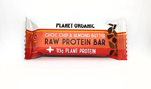 Planet Organic Choc Chip & Almond Butter Raw Protein Bar 50g